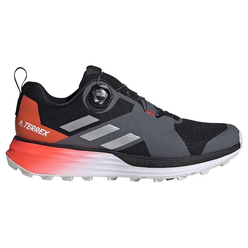 Adidas Terrex Two Boa EU 46 2/3 Core Black / Silver Metal / Solar Red