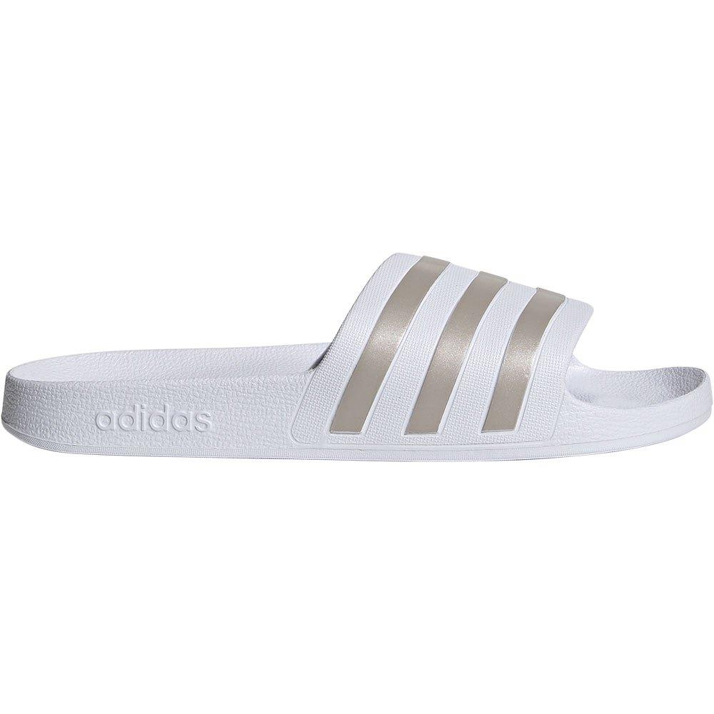 Adidas Tongs Adilette Aqua EU 38 Footwear White / Silver Metal / Footwear White