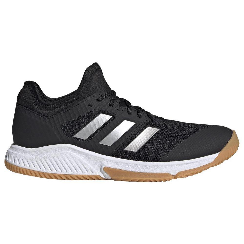 Adidas Badminton Chaussures Court Team Bounce EU 40 Core Black / Silver Metal / Footwear White