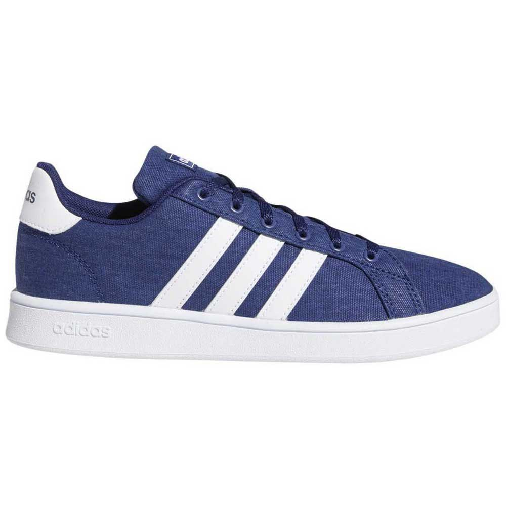 Adidas Grand Court Kid EU 32 Dark Blue / Footwear White / Grey
