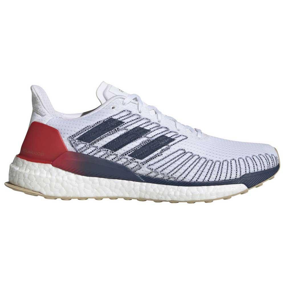 Adidas Solar Boost EU 44 2/3 Footwear White / Tech Indigo / Scarlet