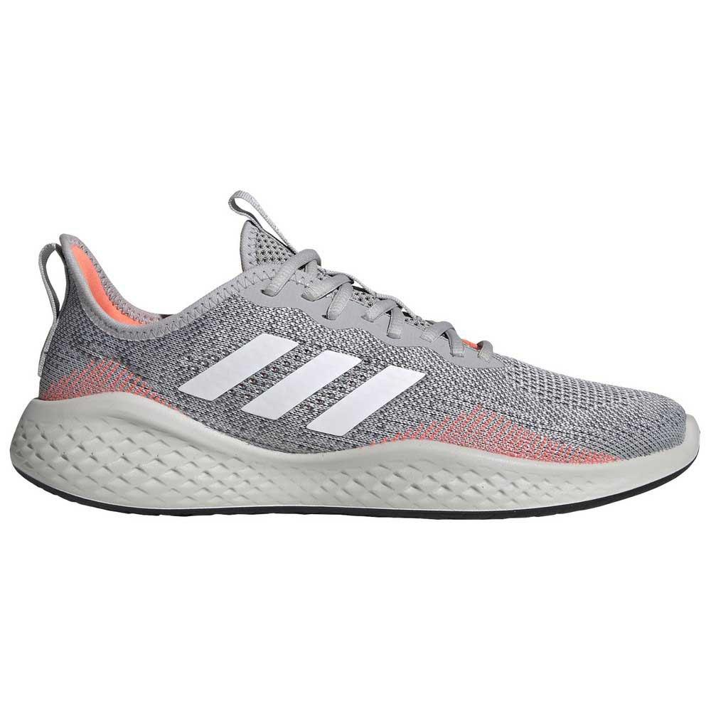 Adidas Fluidflow EU 46 Grey Two / Footwear White / Signal Coral