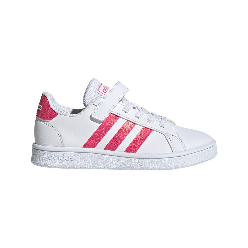 Adidas Grand Court Child EU 30 Footwear White / Real Pink / Footwear White