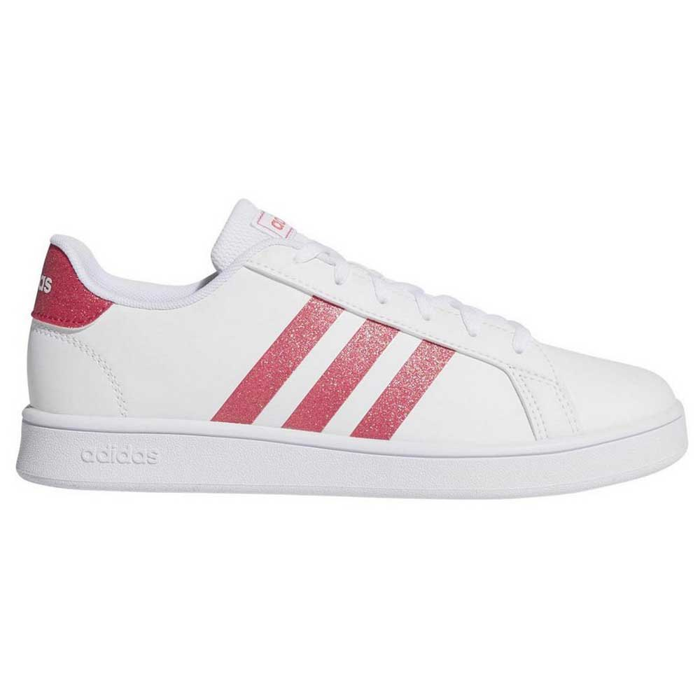 Adidas Grand Court Kid EU 30 Footwear White / Real Pink / Footwear White