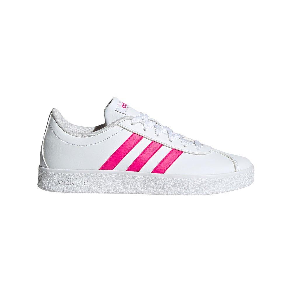 Adidas Vl Court 2.0 Kid EU 31 Footwear White / Shock Pink / Footwear White