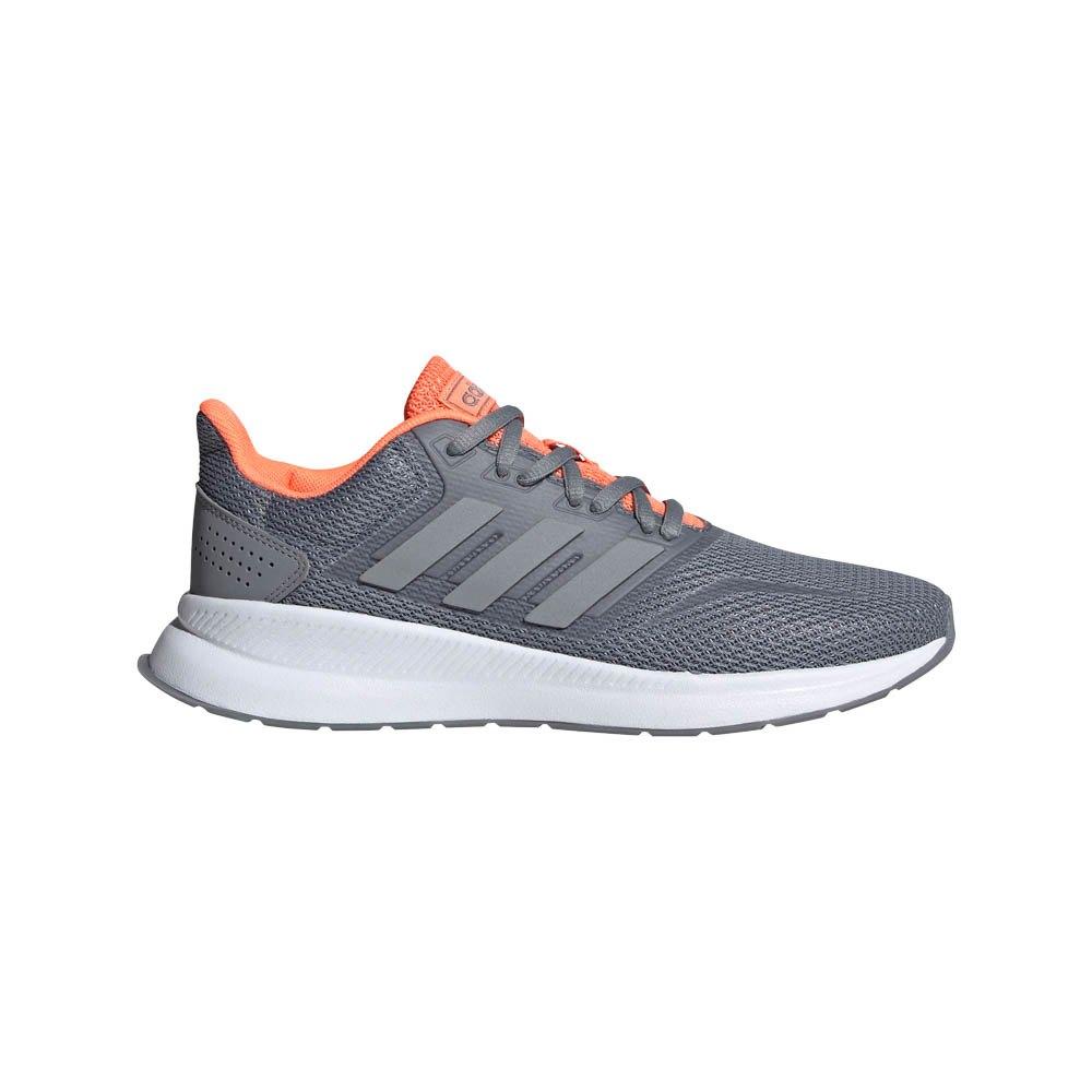 Adidas Runfalcon EU 37 1/3 Grey / Grey / Signal Coral