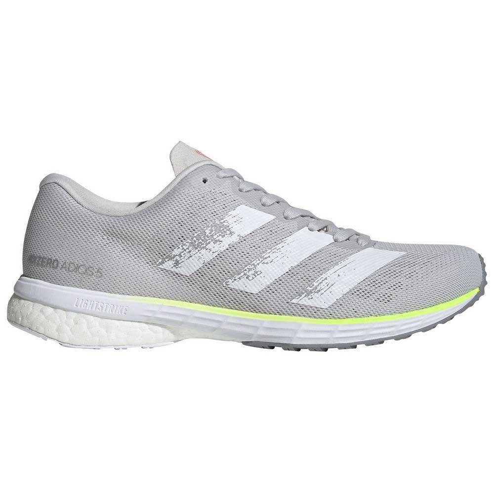 Adidas Adizero Adios 5 EU 37 1/3 Grey One / Silver Metal / Light Flash Red