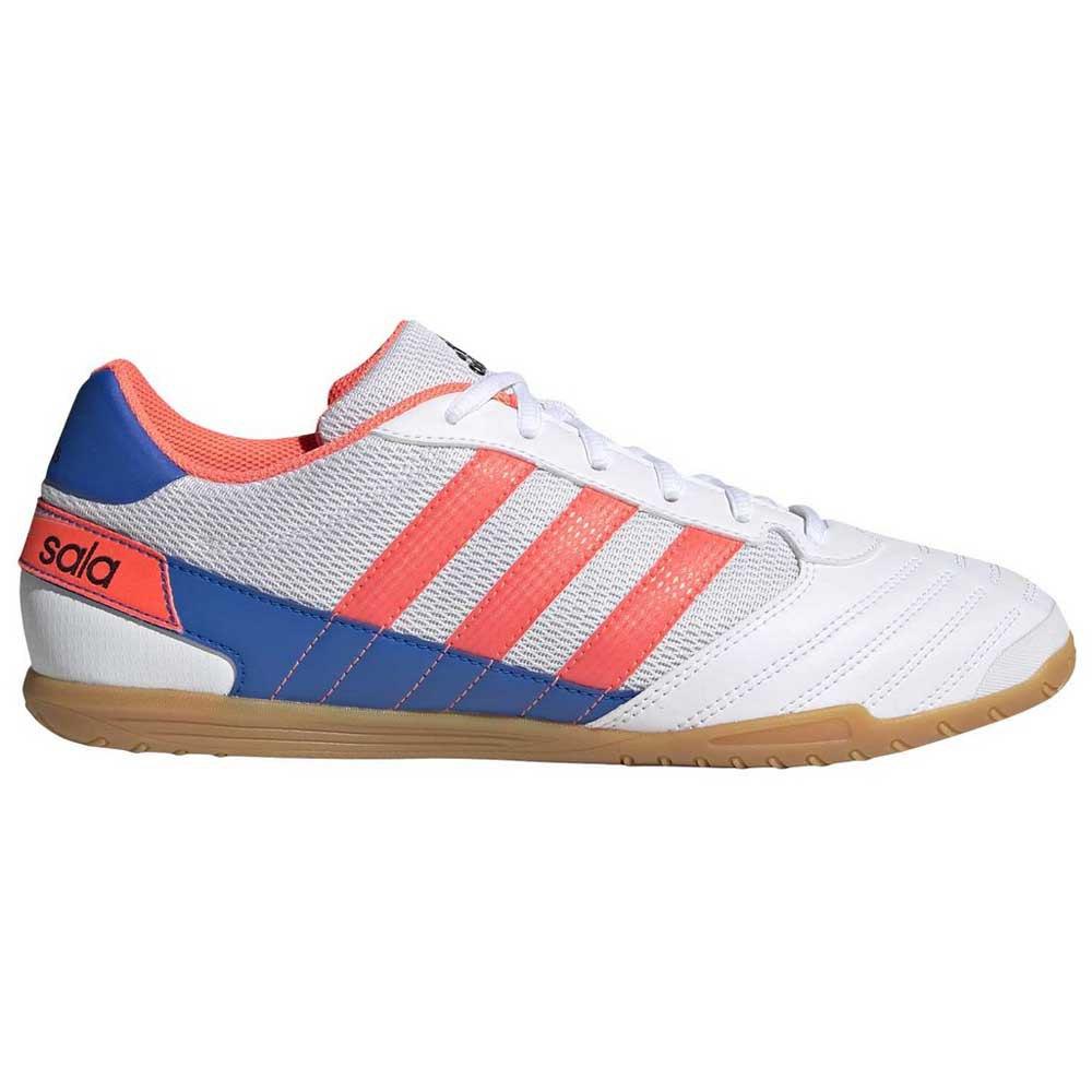 Adidas Chaussures Football Salle Super Sala In EU 44 Footwear White / Signal Coral / Glory Blue