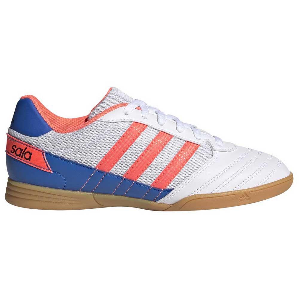 Adidas Chaussures Football Salle Super Sala In EU 29 Footwear White / Signal Coral / Glory Blue