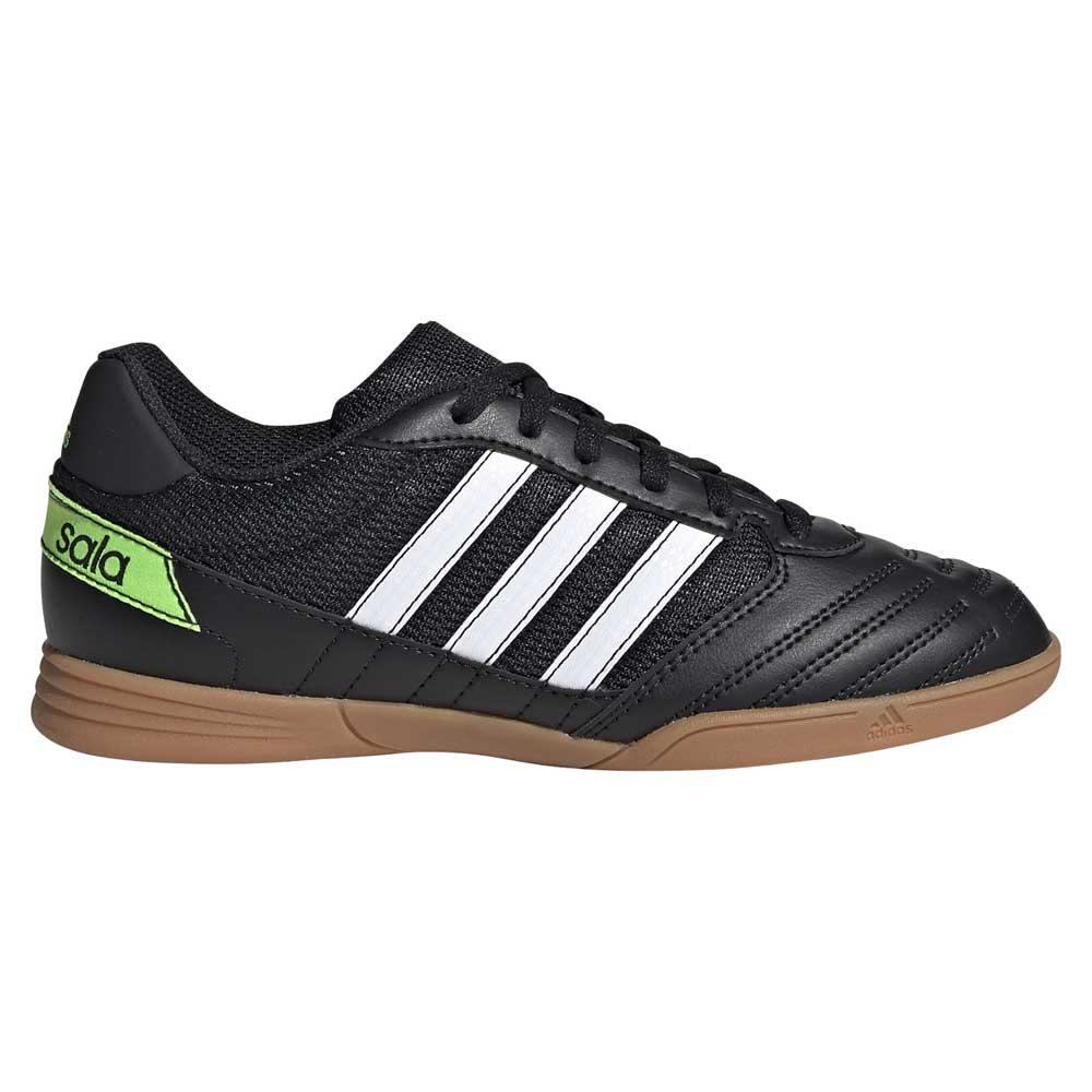 Adidas Chaussures Football Salle Super Sala In EU 30 Core Black / Footwear White / Solar Green