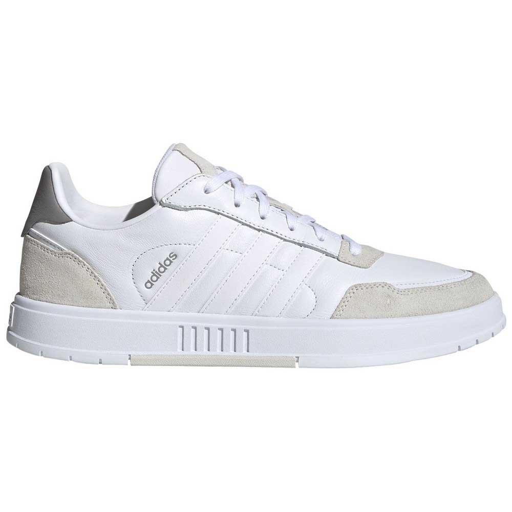 Adidas Court Master Hard Court EU 46 Footwear White / Footwear White / Orbit Grey