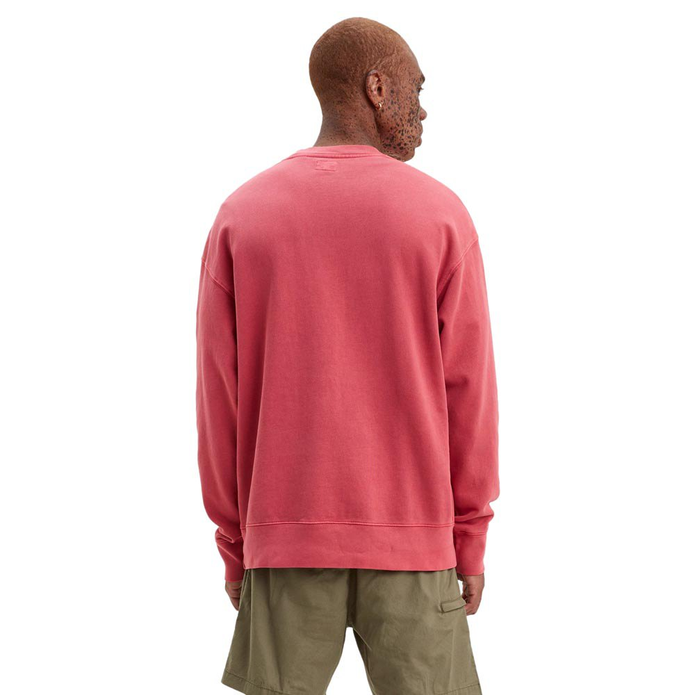 Levi-s-Authentic-Logo-Crewneck-Red-T69478-Sweatshirts-and-Hoodies-Male-Red thumbnail 5