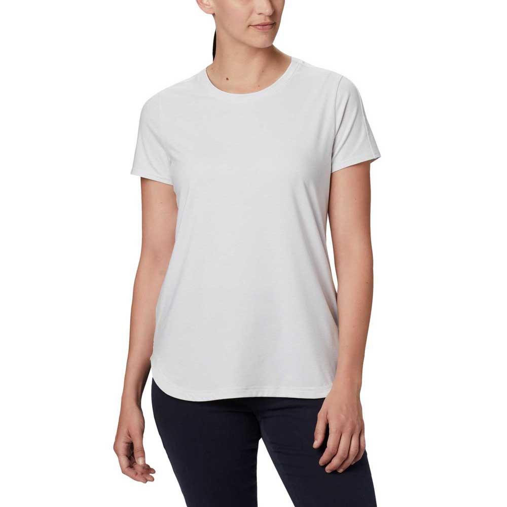 Columbia T-shirt Manche Courte Firewood Camp Ii M White Small Stripe