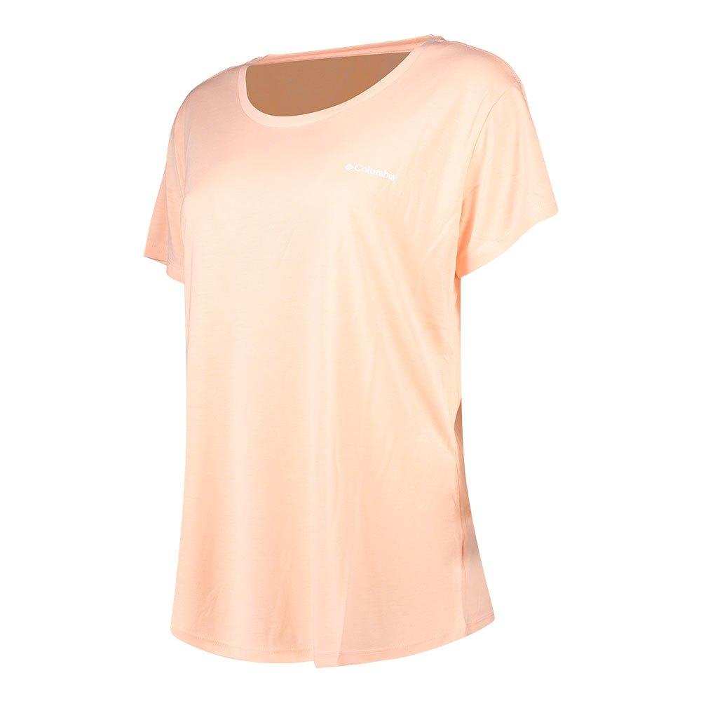 Columbia Lava Lake Ii Short Sleeve T-shirt XL Peach Cloud / CSC Power Brand
