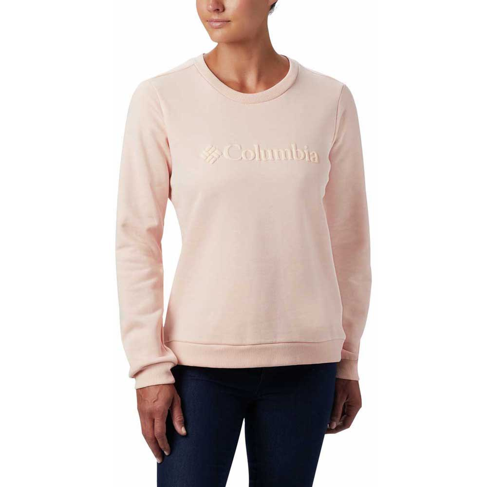 Columbia Logo Crew Sweatshirt XL Peach Cloud