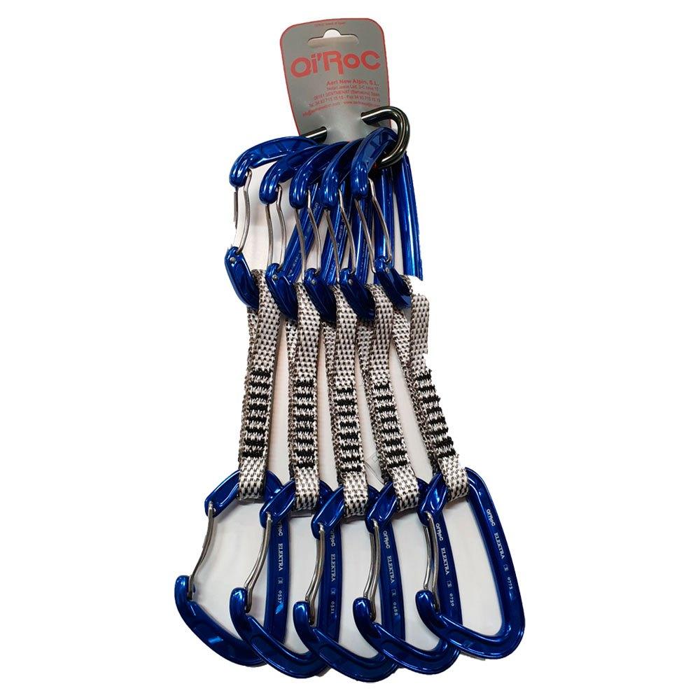 Qi´roc Elektra Pack 5 Set Recto Clip+curvo Clip+exprés Dyneema 12x120mm+mini One Size Blue