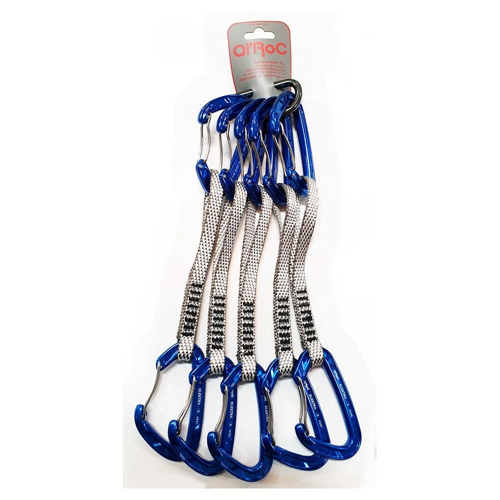 Qi´roc Elektra Pack 5 Set Recto Clip+curvo Clip+exprés Dyneema 12x170mm+mini One Size Blue