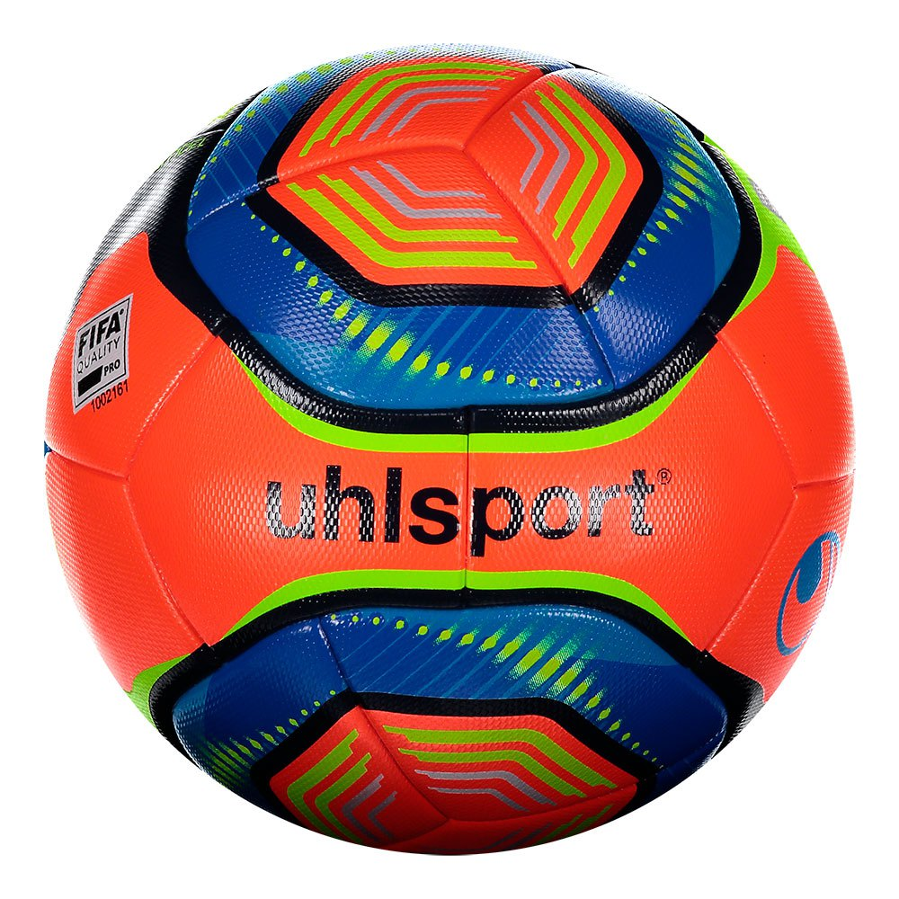 Uhlsport Elysia Official Winter Football Ball 5 Fluo Red / Metallic Blue / Fluor