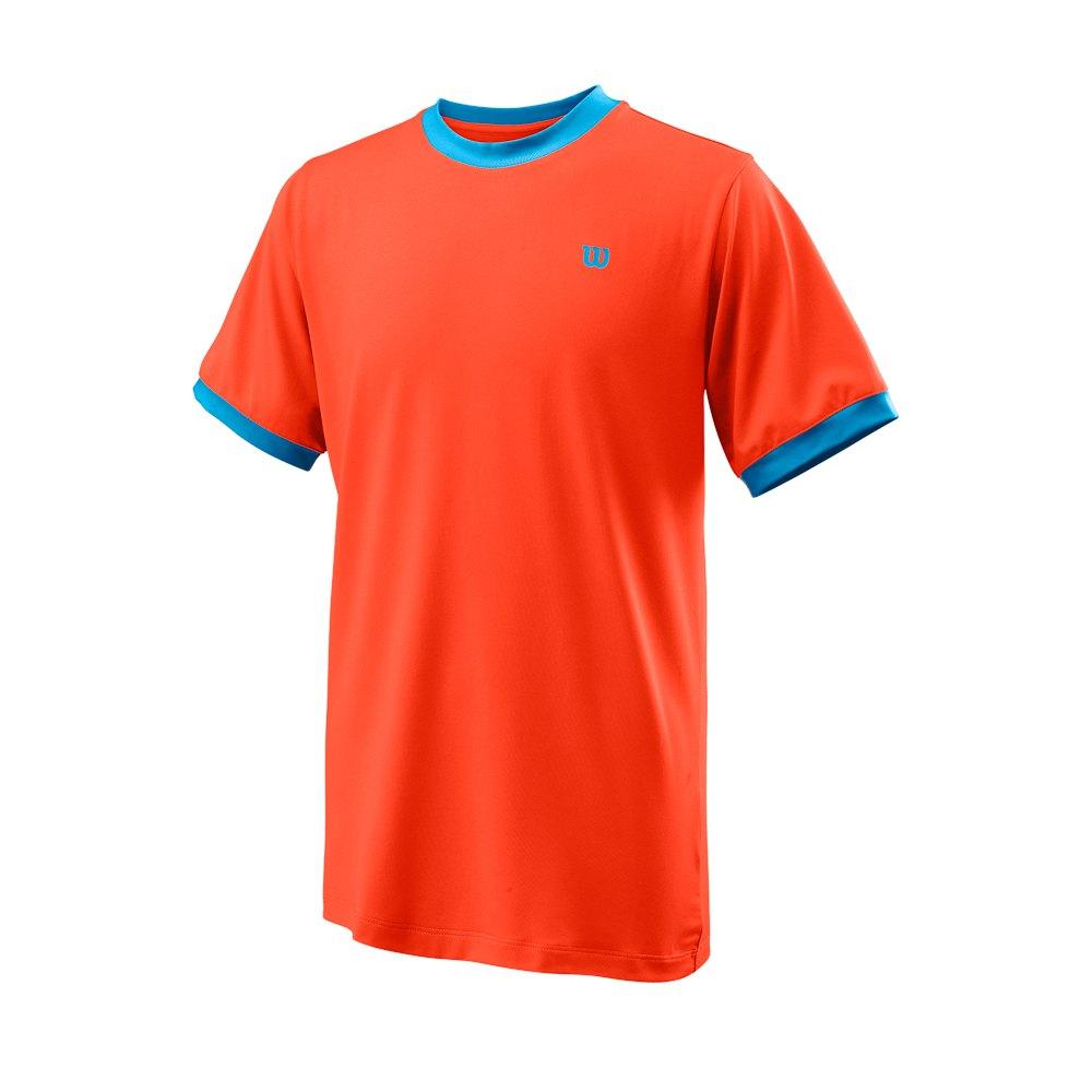 Wilson T-shirt Manche Courte Competition Crew S Tangerine Tango
