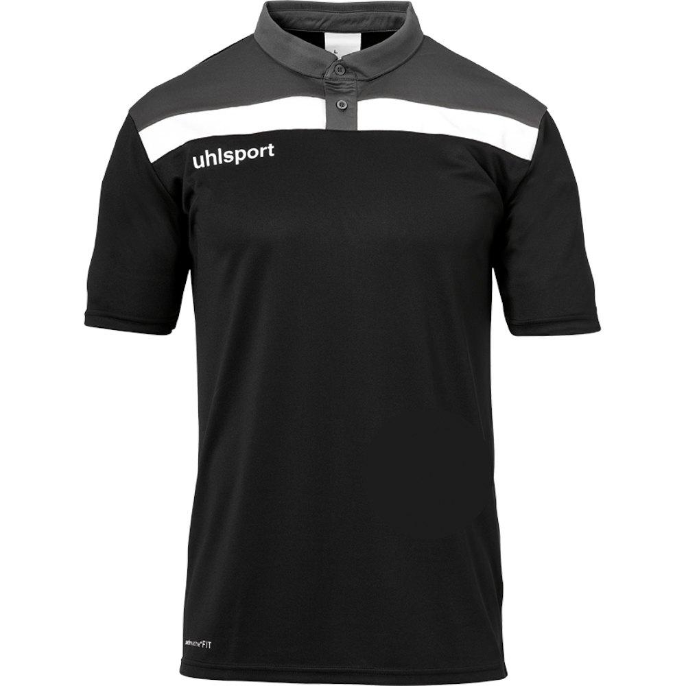 Uhlsport Polo Manche Courte Offense 23 S Black / Anthracite / White
