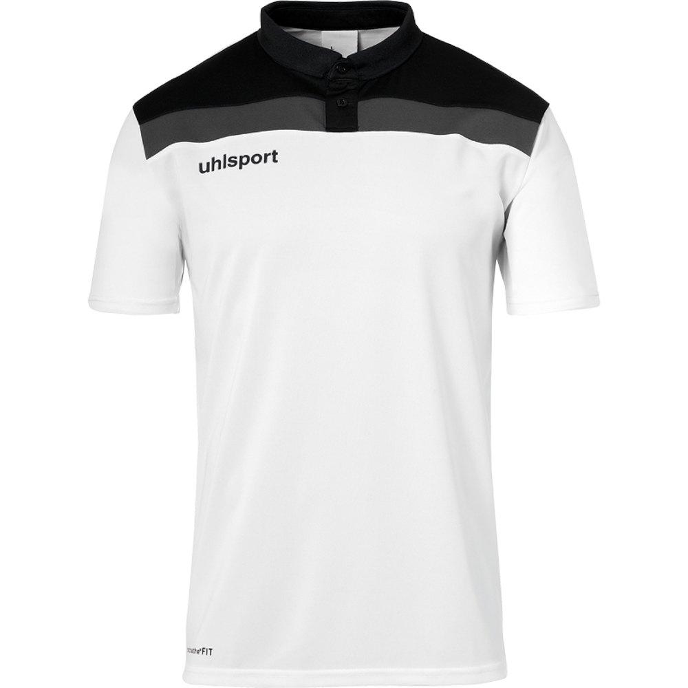 Uhlsport Polo Manche Courte Offense 23 S White / Black / Anthracite