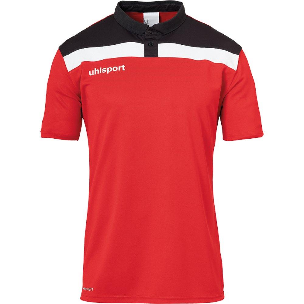 Uhlsport Polo Manche Courte Offense 23 S Red / Black / White