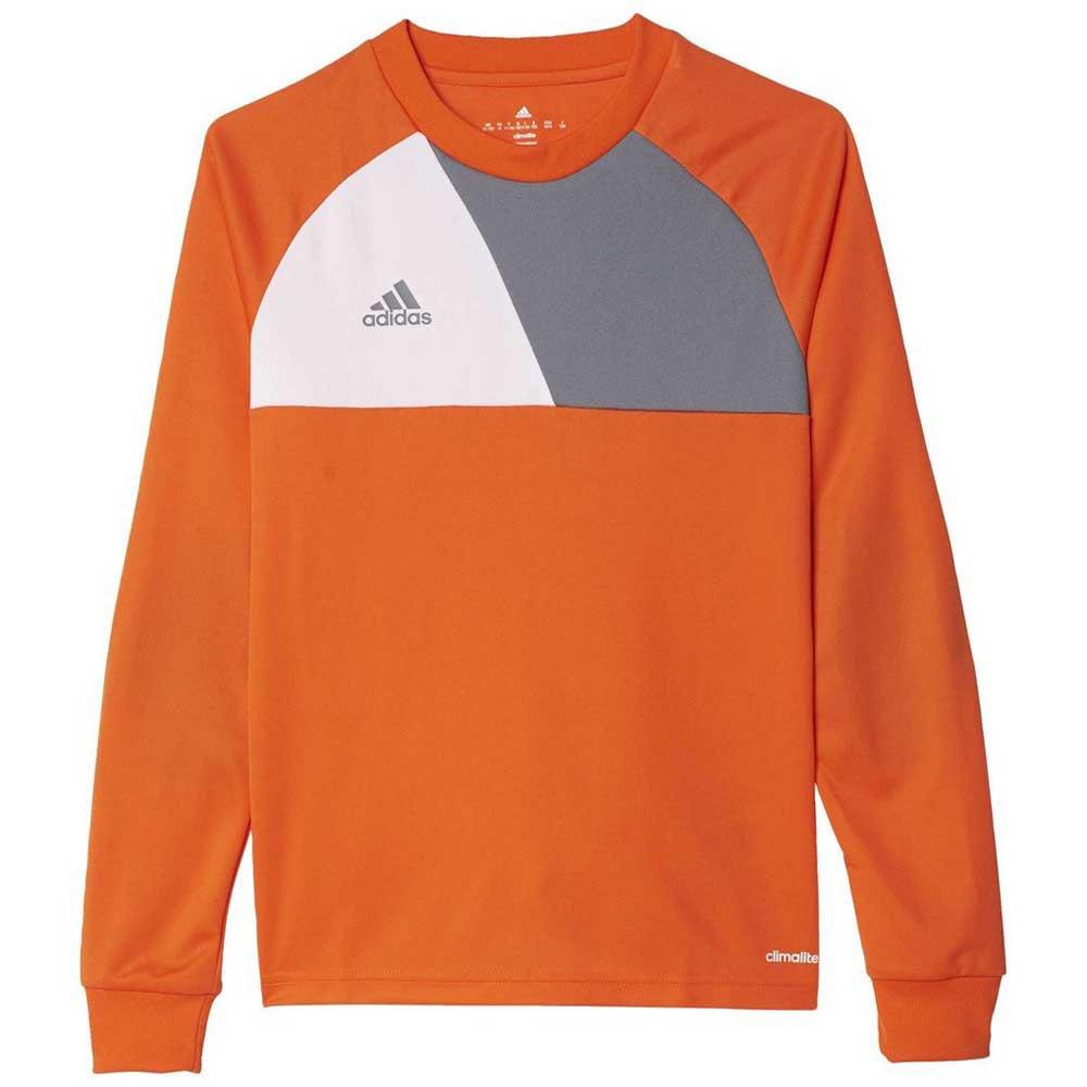 Adidas Assita 17 T-shirt Manche Longue 128 cm Orange / White