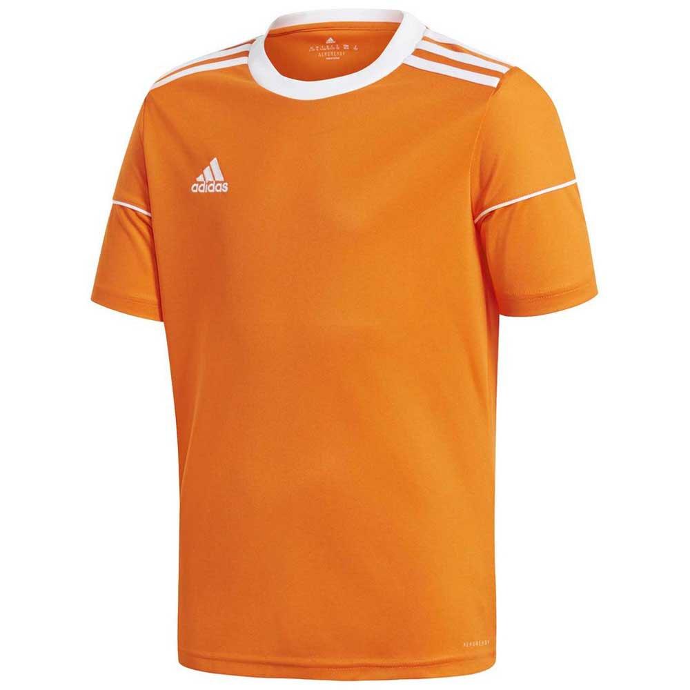 Adidas T-shirt Manche Courte Squad 17 176 cm Orange / White