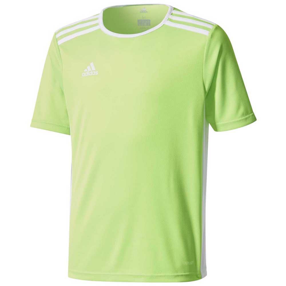 Adidas T-shirt Manche Courte Entrada 18 152 cm Solar Green / White
