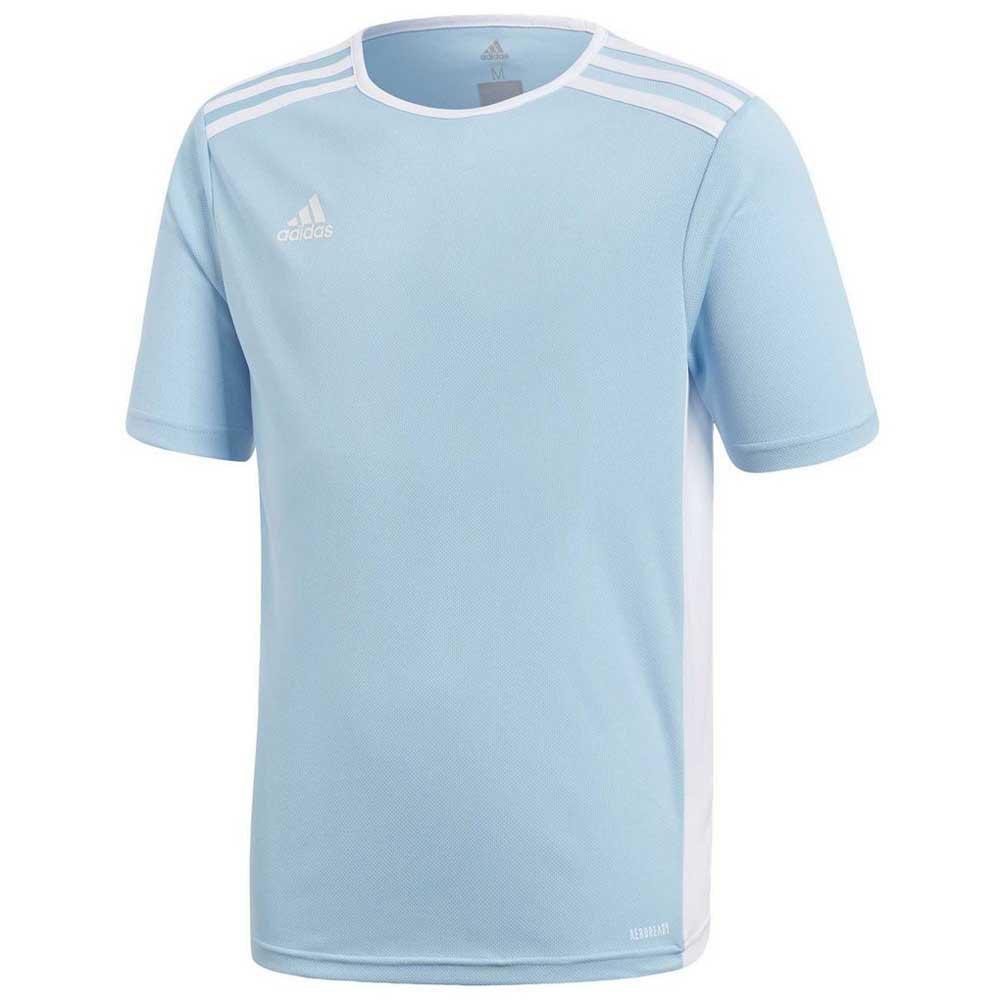 Adidas T-shirt Manche Courte Entrada 18 116 cm Clear Blue / White