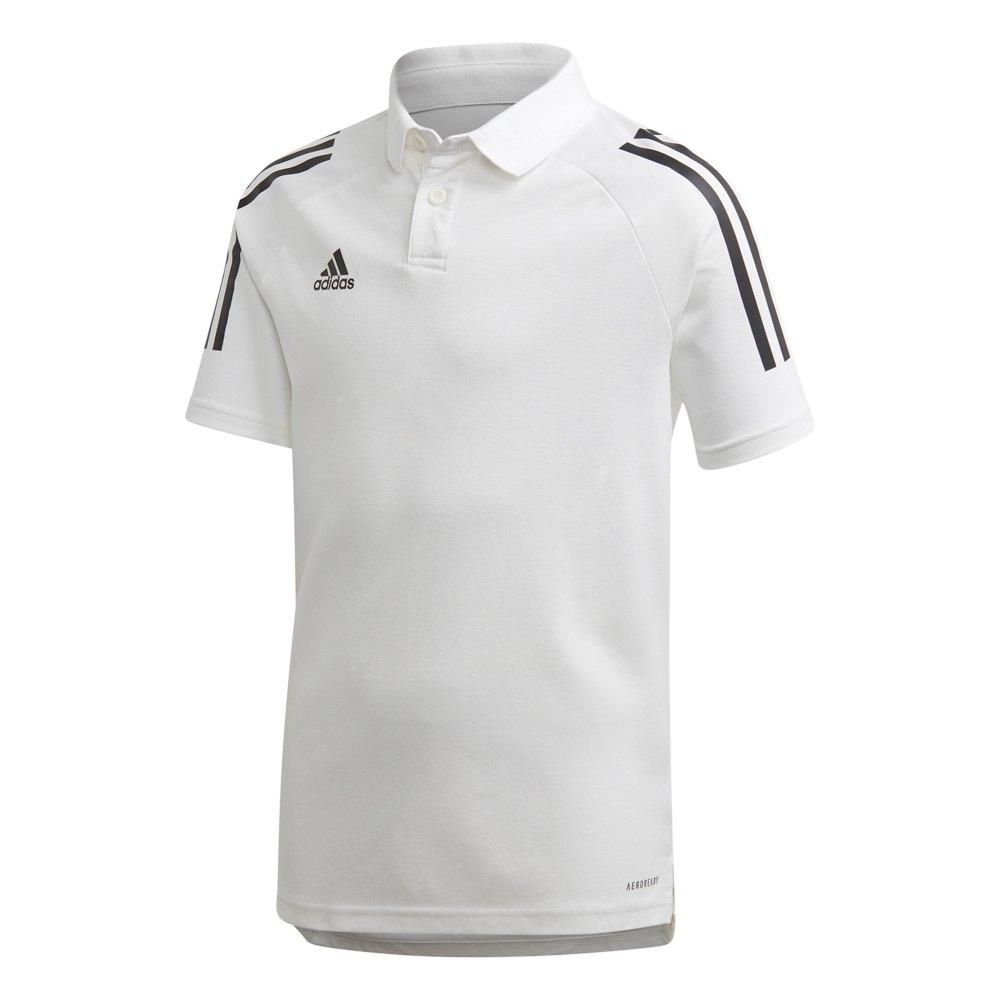 Adidas Polo Manche Courte Condivo 20 164 cm White / Black