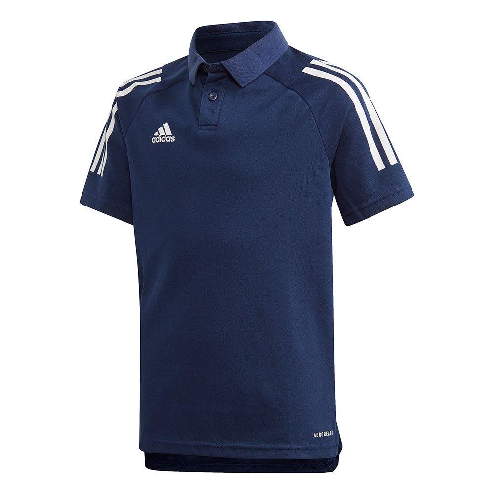 Adidas Polo Manche Courte Condivo 20 164 cm Navy Blue / White