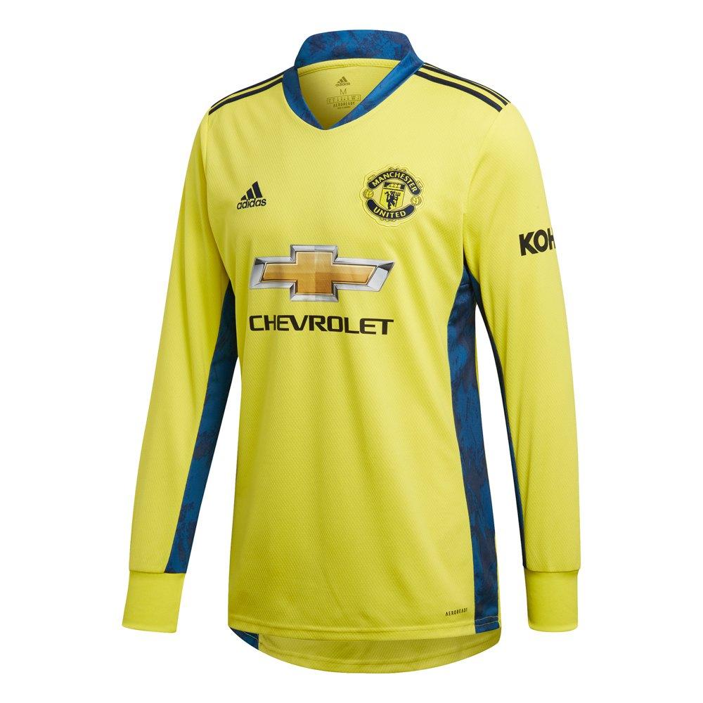 Adidas Manchester United Fc Away Goalkeeper 20/21 L Shock Yellow / Navy Blue