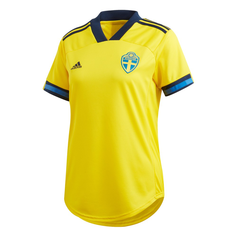 Adidas T-shirt Suède Domicile 2020 S Yellow / Night Indigo