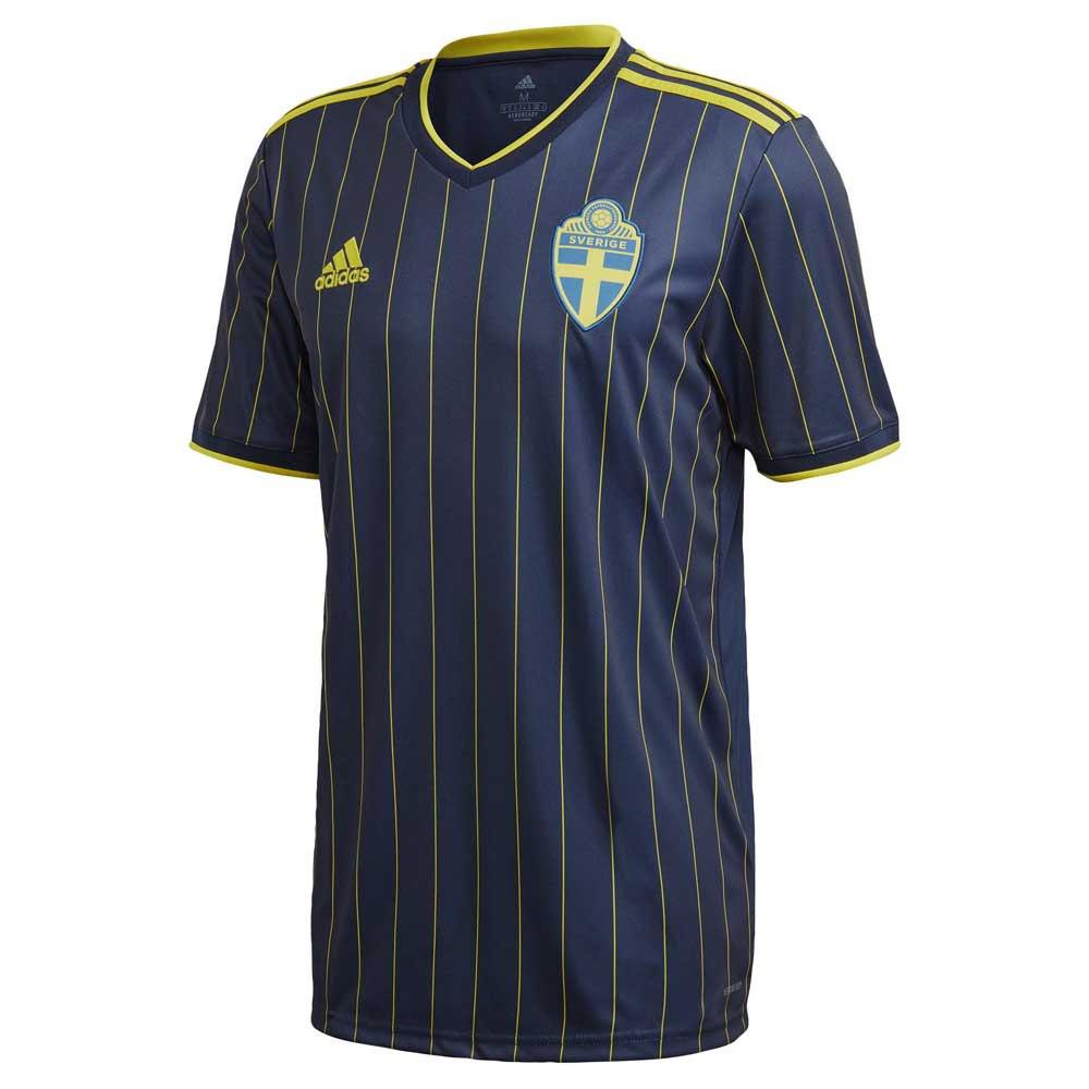 Adidas T-shirt Suède Extérieur 2020 M Night Indigo / Yellow