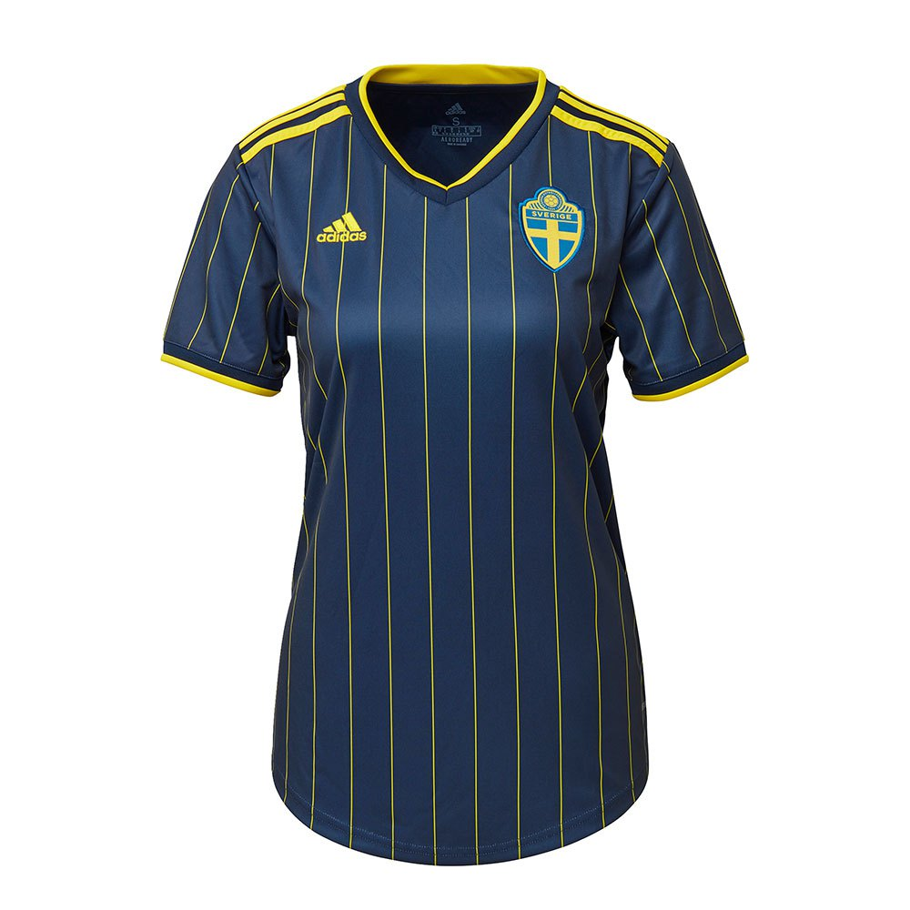 Adidas T-shirt Suède Extérieur 2020 L Night Indigo / Yellow