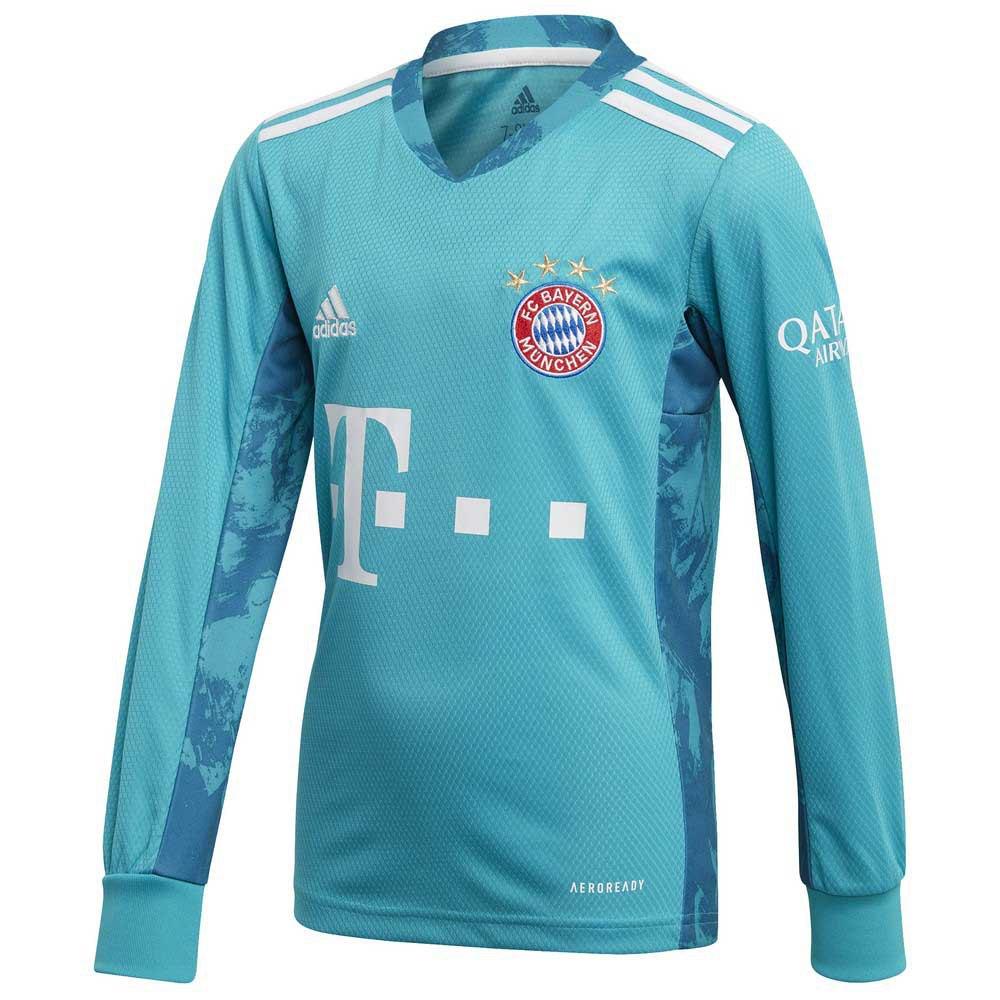 Adidas Fc Bayern Munich Domicile Gardien 20/21 Junior 164 cm Lab Green