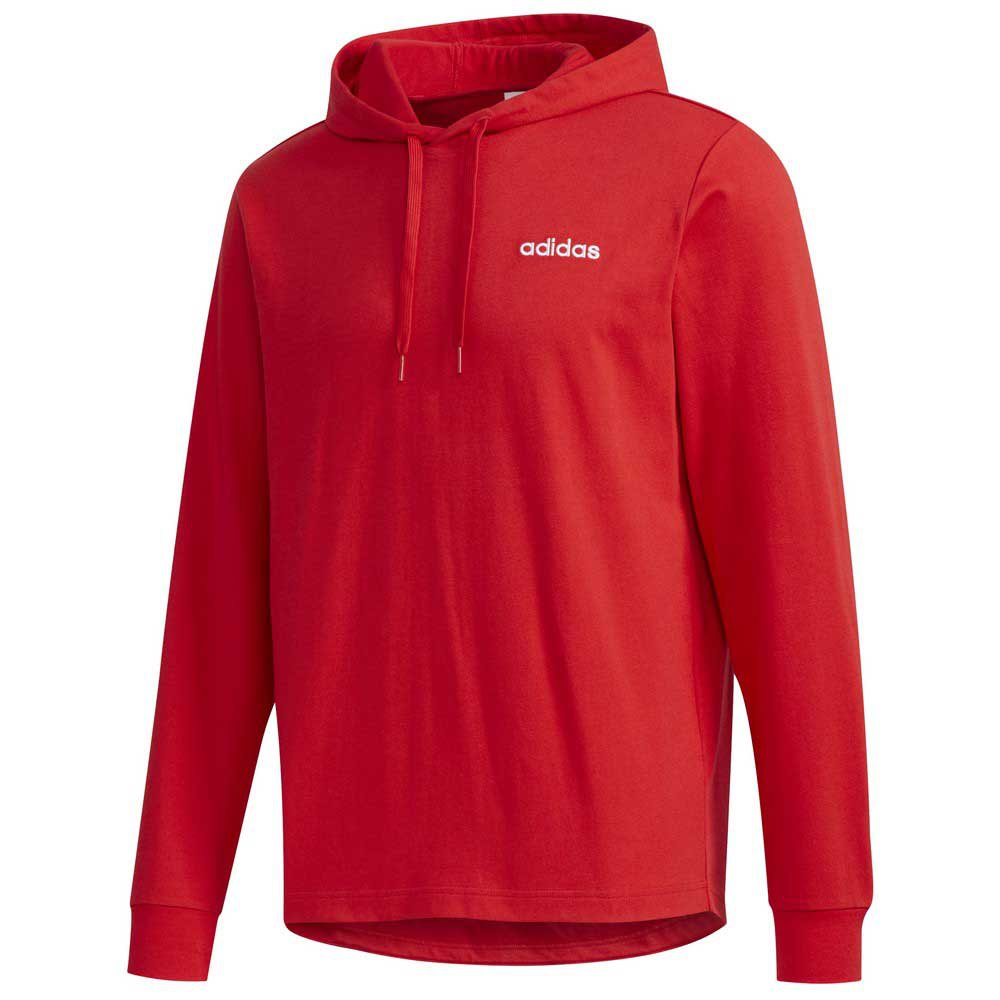 Adidas Essentials Single Jersey Over The Head M Scarlet / White