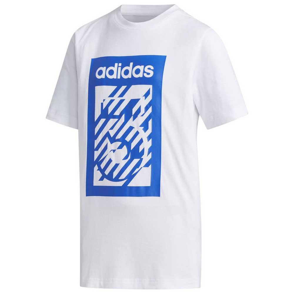 Adidas T-shirt Manche Courte Box 176 cm White