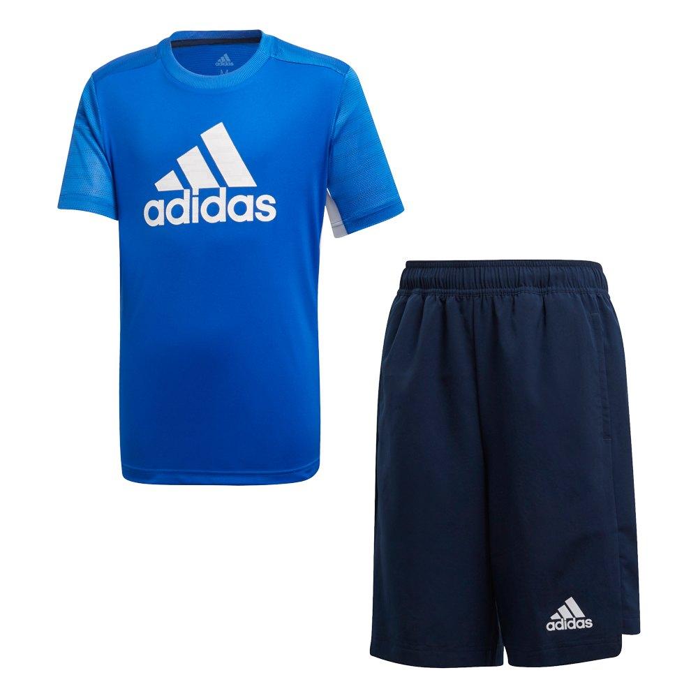 Adidas Training Set 176 cm Blue / Collegiate Navy / White