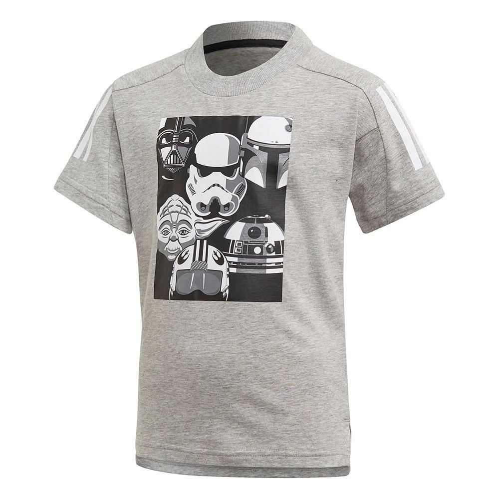Adidas Little Boys Disney Star Wars 104 cm Medium Grey Heather / Black