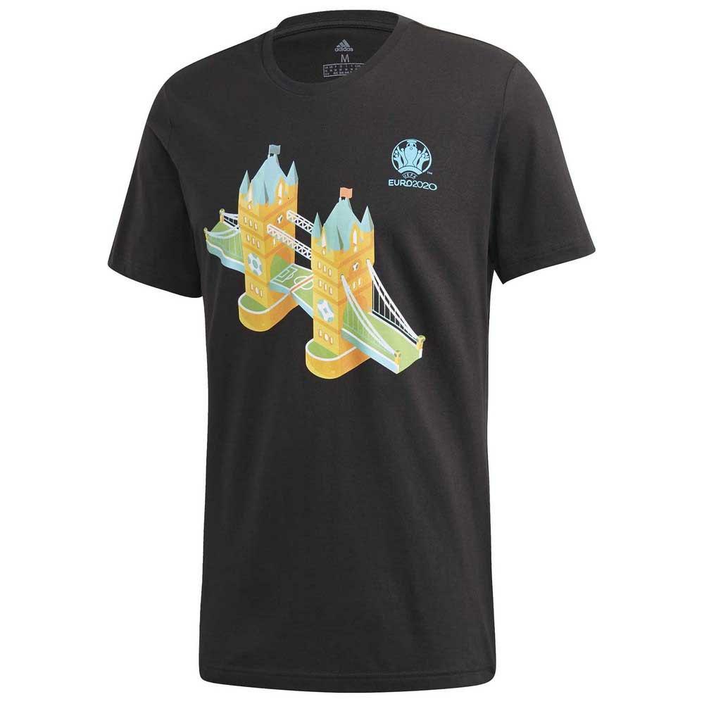 Adidas T-shirt Manche Courte Uefa Euro 2020 Road To Wembley L Black