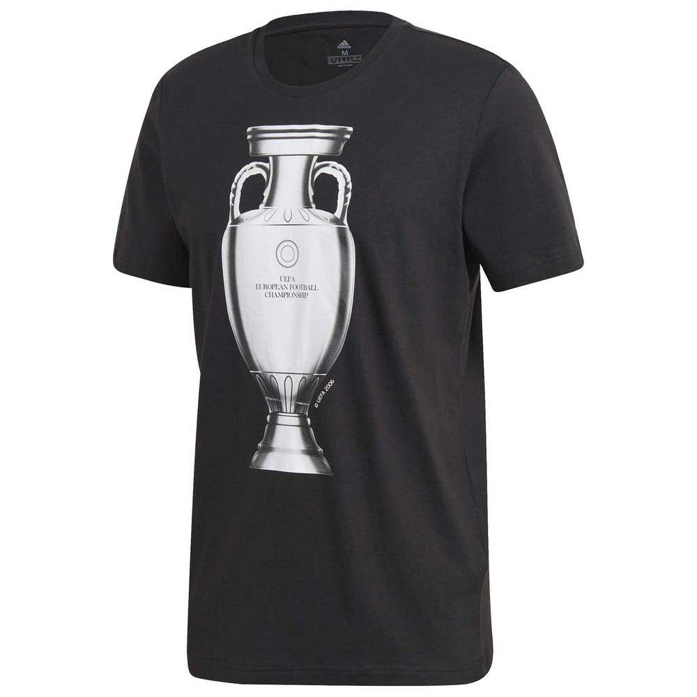 Adidas T-shirt Manche Courte Uefa Euro 2020 Emblem L Black