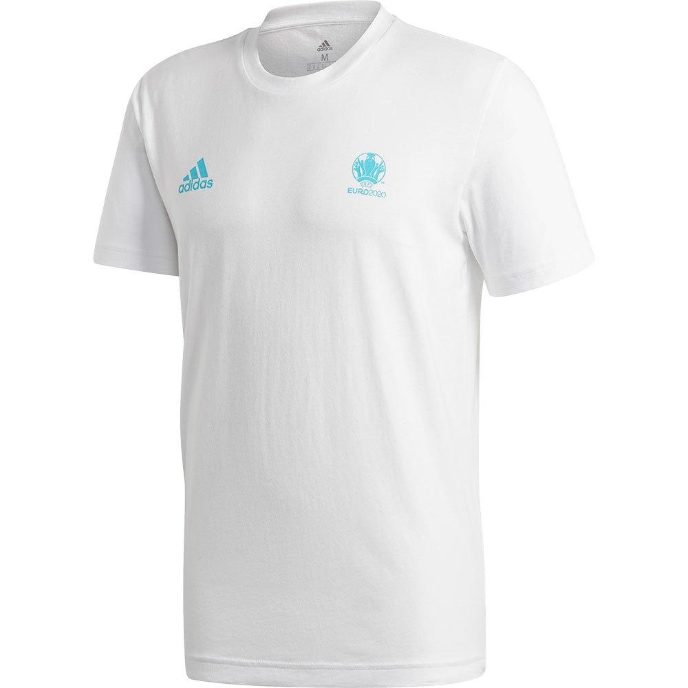 Adidas T-shirt Manche Courte Uefa Euro 2020 Map M White