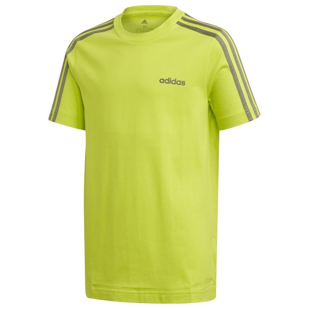 Adidas Essentials 3 Stripes 128 cm Semi Solar Slime / Legend Green