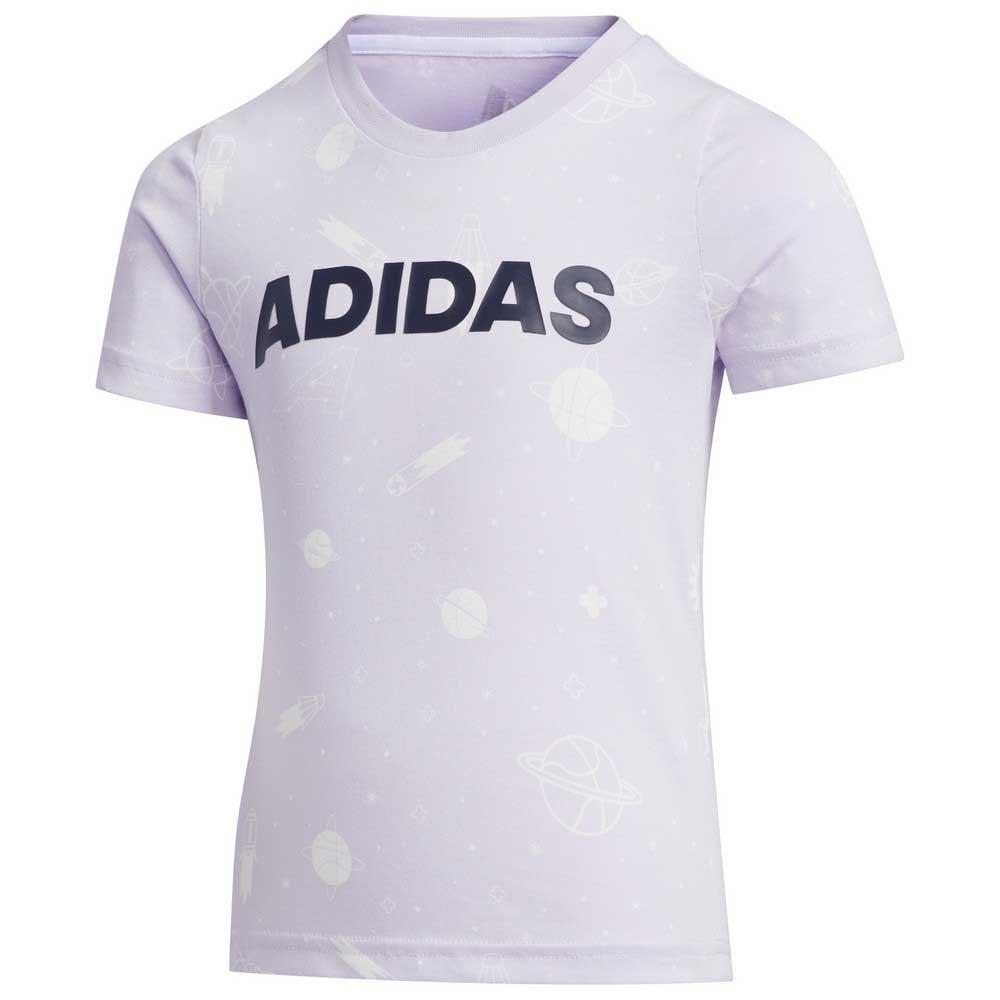 Adidas T-shirt Manche Courte Summer 104 cm Purple Tint