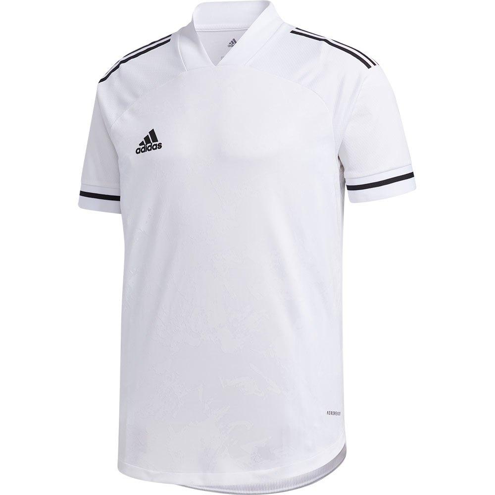 Adidas Condivo 20 Short Sleeve T-shirt L White / Black