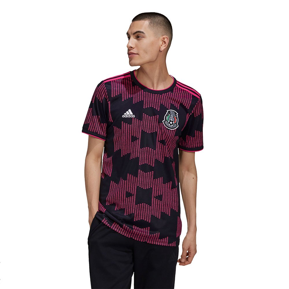 Adidas Mexico Home 2020 L Black / Real Magenta