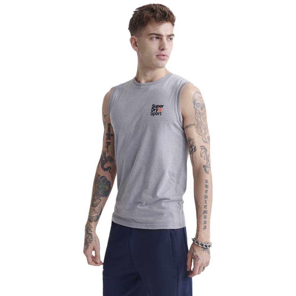 Superdry Core Sport Small Logo S Grey Marl