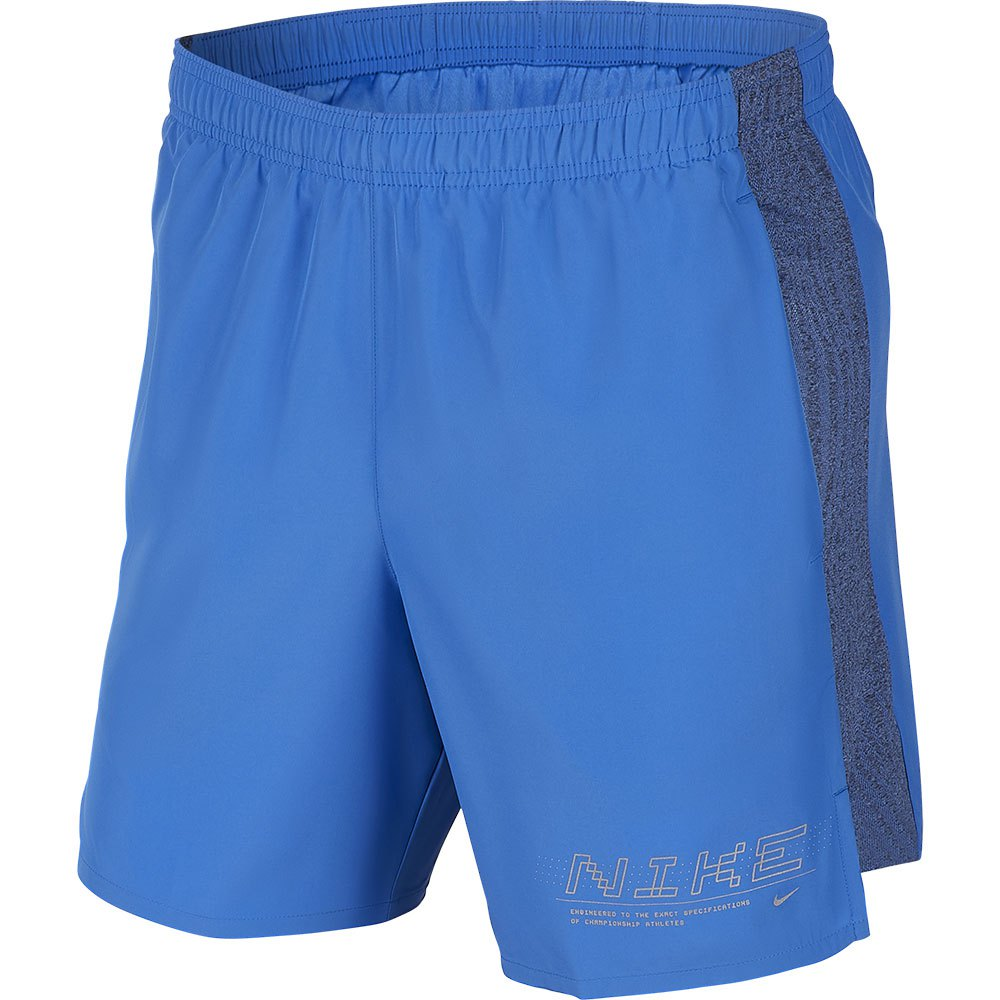 Nike Short Challenger Graphic Ff 7´´ L Pacific Blue / Reflective Silver